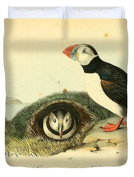 Arctic Puffin Duvet Cover by Philip Ralley