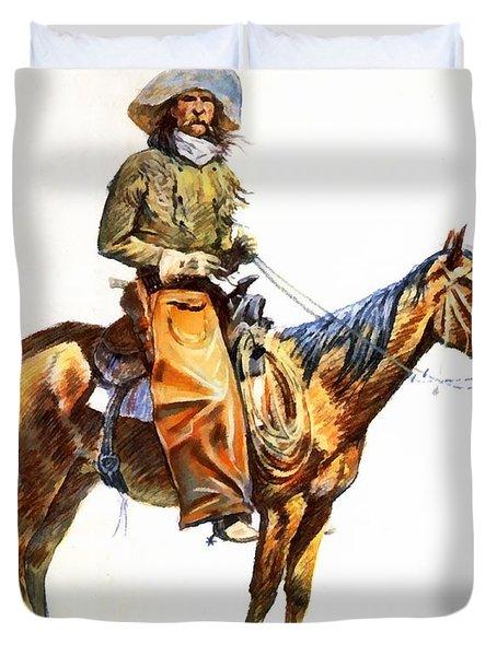 Arizona Cowboy Duvet Cover by Frederic Remington