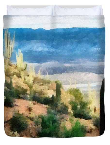 Arizona Desert Heights Duvet Cover by Michelle Calkins