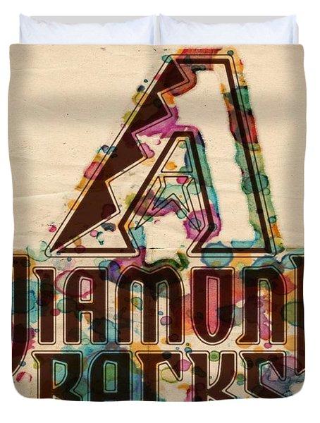 Arizona Diamondbacks Poster Vintage Duvet Cover by Florian Rodarte