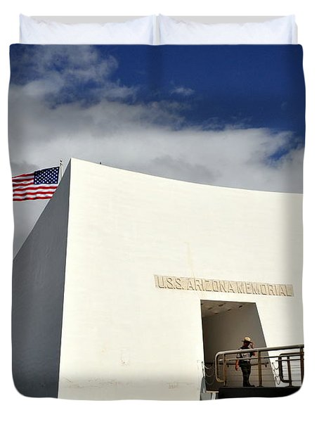 Arizona Memorial Duvet Cover by Caroline Stella