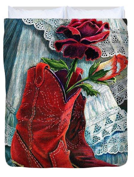 Arizona Rose Duvet Cover by Marilyn Smith
