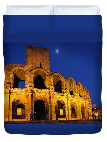 Arles Roman Arena Duvet Cover by Inge Johnsson