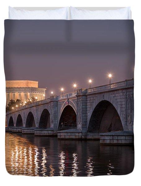 Arlington Memorial Bridge Duvet Cover by Eduard Moldoveanu