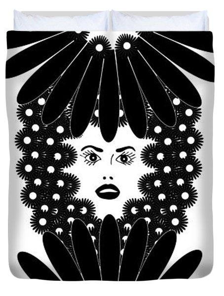 Art Nouveau Design 453 Duvet Cover by Frank Tschakert
