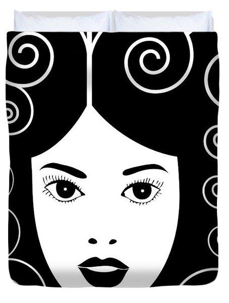 Art Nouveau Poster Duvet Cover by Frank Tschakert