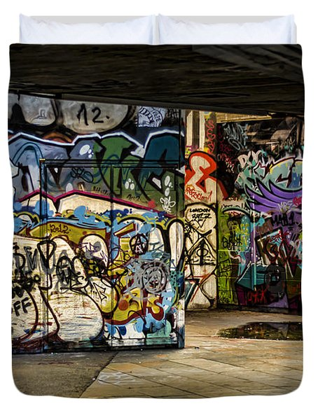 Art Of The Underground Duvet Cover by Heather Applegate