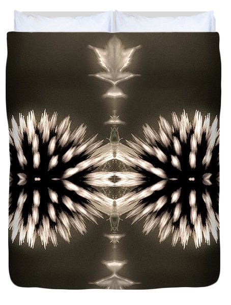 Artistic Flower Abstract Duvet Cover by Don Johnson
