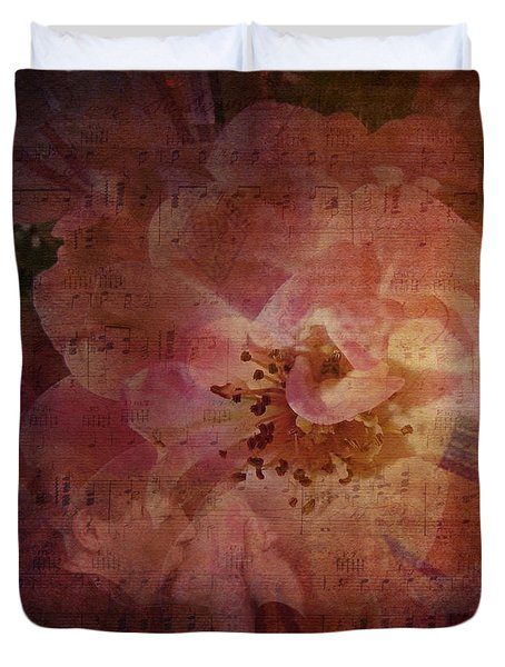 As Time Goes By Duvet Cover by Lianne Schneider