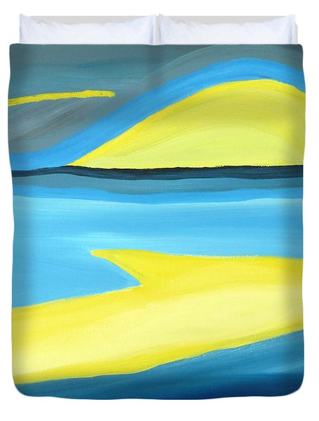 Ascending Light Into The New Dawn Of Time Duvet Cover by Daina White