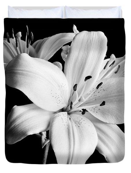 Asian Lilies 1 Duvet Cover by Sebastian Musial