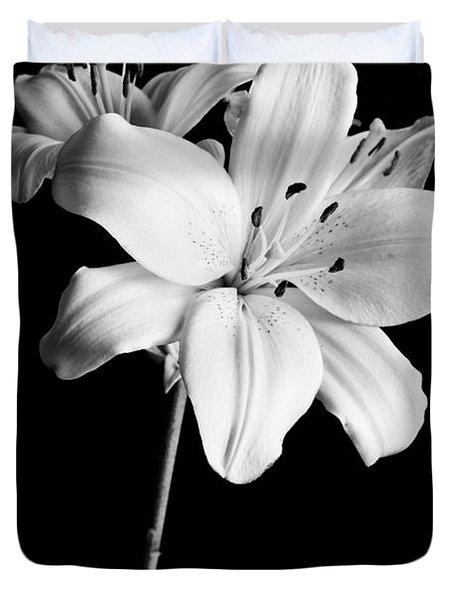 Asian Lilies 2 Duvet Cover by Sebastian Musial