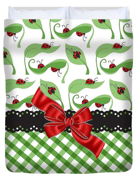 Asiatic Ladybugs  Duvet Cover by Debra  Miller