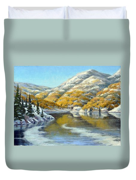 Aspens First Snow Duvet Cover by Rick Hansen