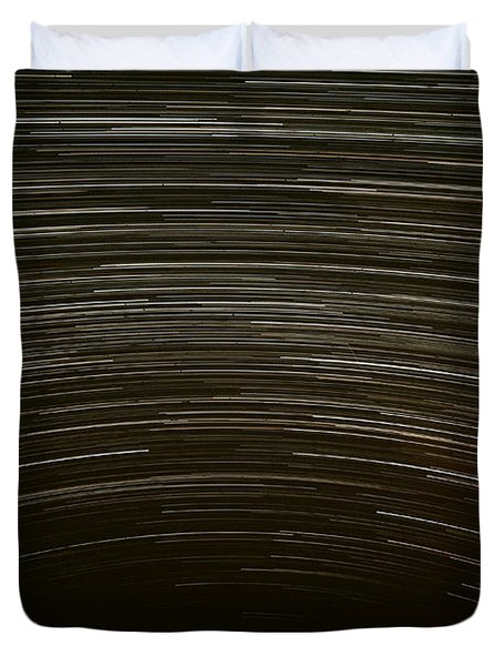 Assateague Star Trails Duvet Cover by Benjamin Reed