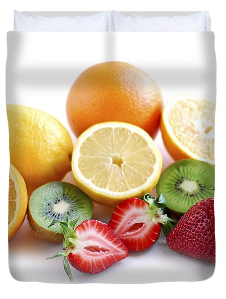 Assorted Fruit Duvet Cover by Elena Elisseeva