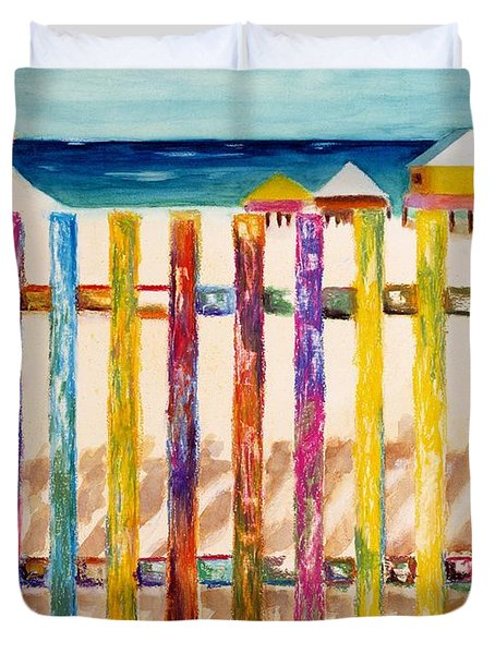 At The Beach Duvet Cover by Frances Marino
