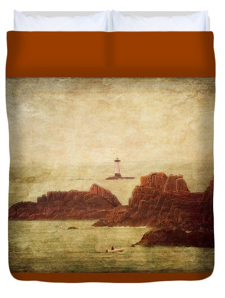 At The Entrance Of The Mont Saint-michel Bay Duvet Cover by Loriental Photography