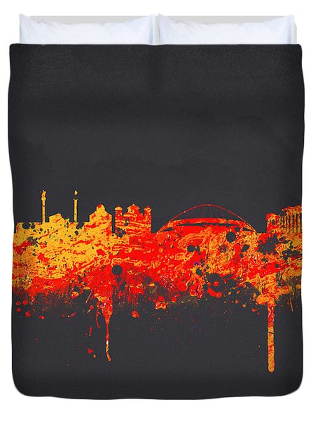 Athens Greece Duvet Cover by Aged Pixel
