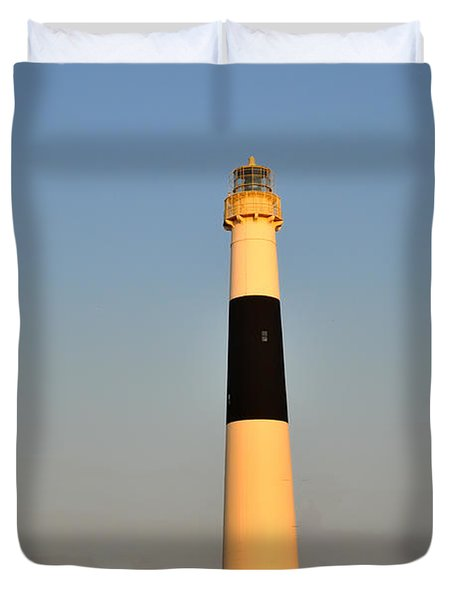 Atlantic City - Absecon Lighthouse Duvet Cover by Bill Cannon
