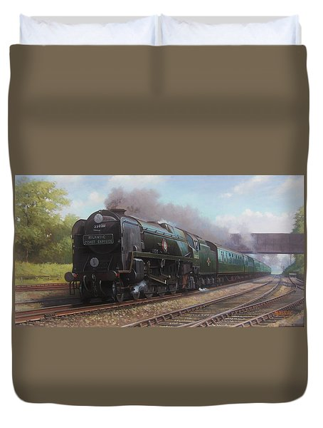 Atlantic Coast Express Duvet Cover by Mike  Jeffries