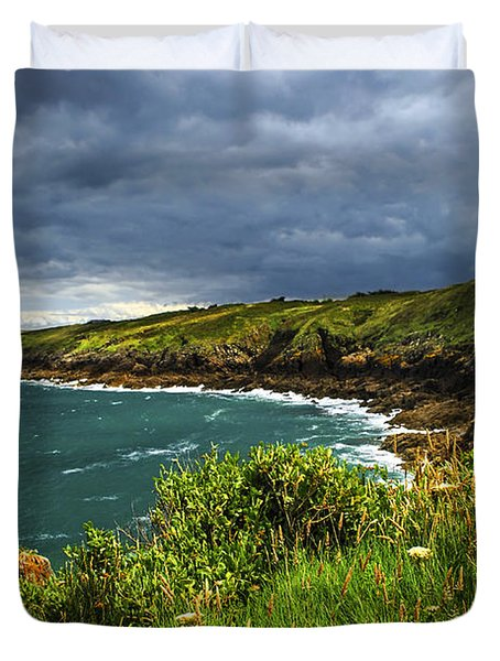 Atlantic Coast In Brittany Duvet Cover by Elena Elisseeva