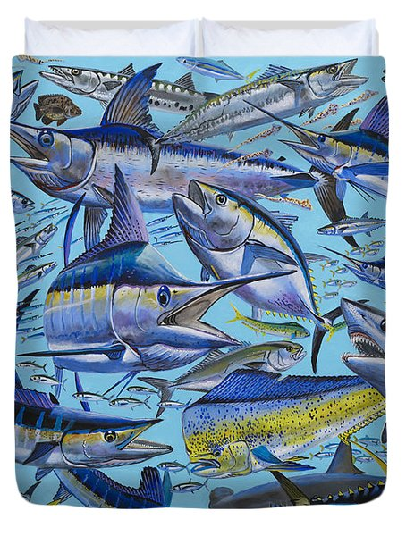 Atlantic Gamefish Off008 Duvet Cover by Carey Chen