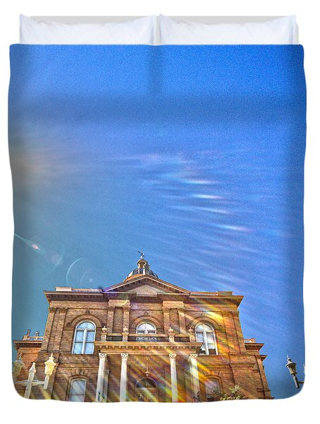 Auburn Courthouse 2 Duvet Cover by Cheryl Young