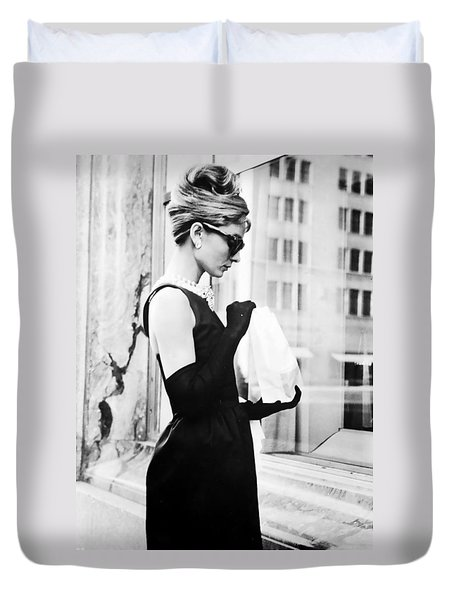 Audrey At Tiffanys Duvet Cover by Nomad Art