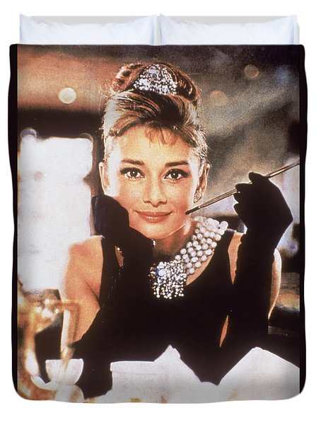Audrey Hepburn Duvet Cover by Georgia Fowler