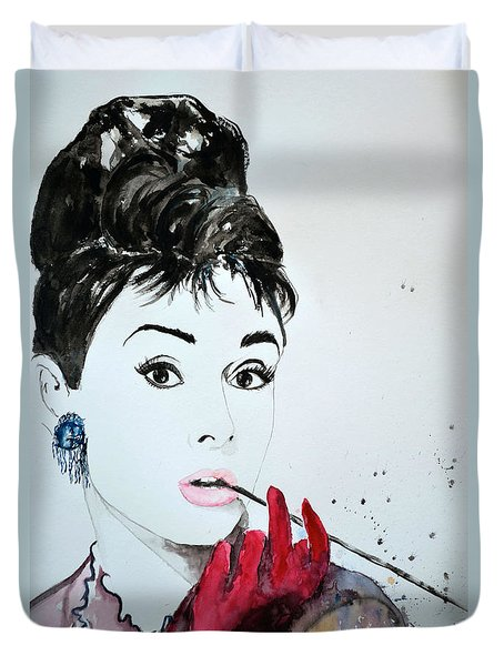 Audrey Hepburn - Original Duvet Cover by Ismeta Gruenwald