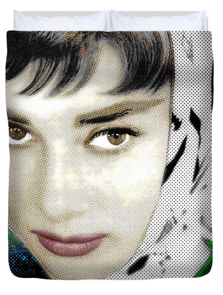 Audrey Hepburn Duvet Cover by Tony Rubino