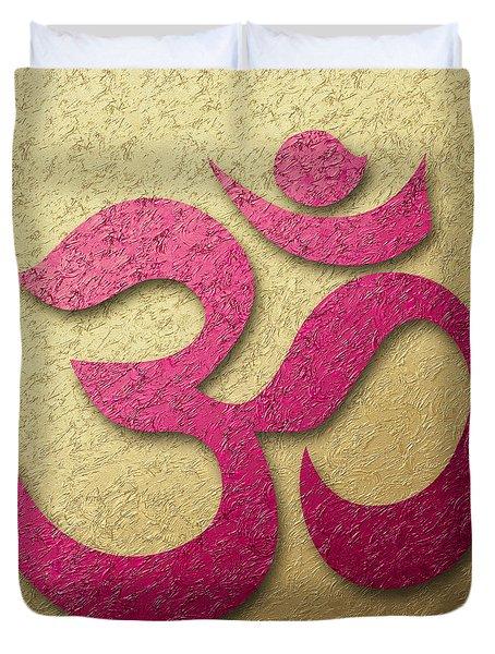 Aum Or Om Symbol Duvet Cover by Cristina-Velina Ion