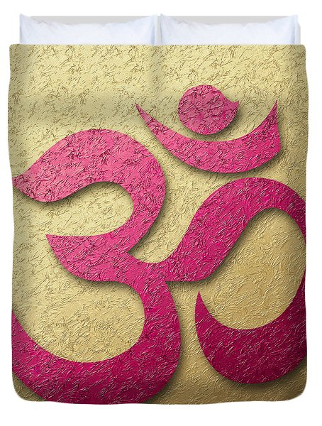 Aum Or Om Symbol Duvet Cover by Cristina-Velina Ion