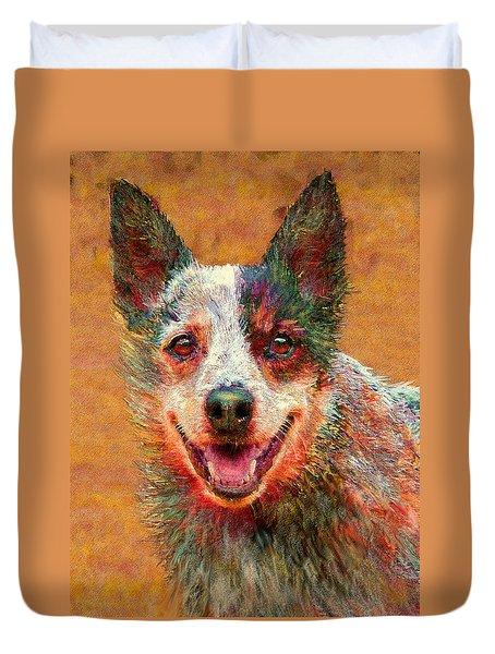 Australian Cattle Dog Duvet Cover by Jane Schnetlage