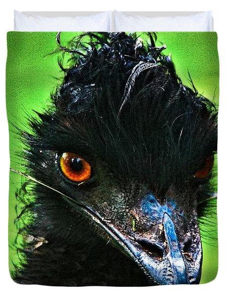 Australian Emu Duvet Cover by Blair Stuart