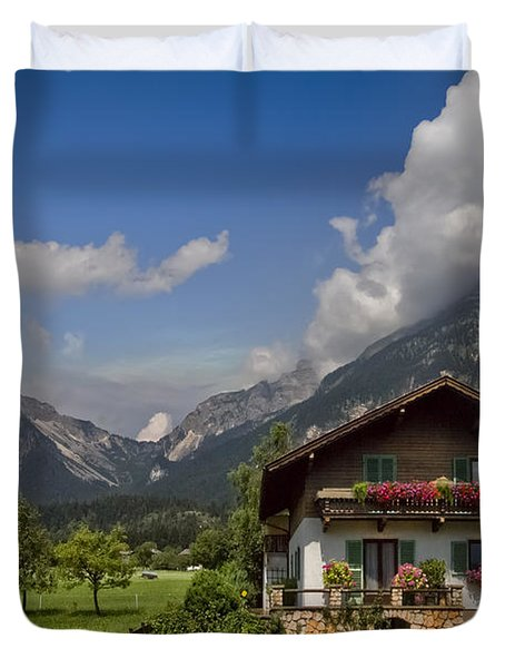 Austrian Cottage Duvet Cover by Debra and Dave Vanderlaan