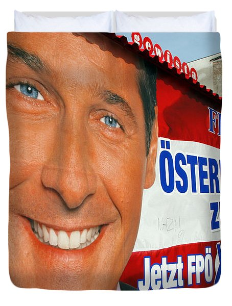 Austrian Politics Duvet Cover by Jason O Watson