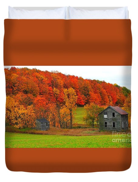 Autumn Abandoned Duvet Cover by Terri Gostola