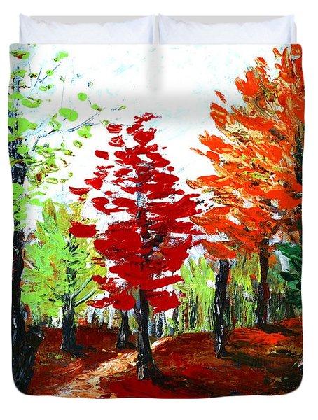 Autumn Duvet Cover by Anastasiya Malakhova