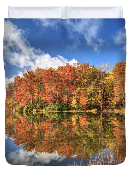 Autumn At Boley Lake Duvet Cover by Jaki Miller