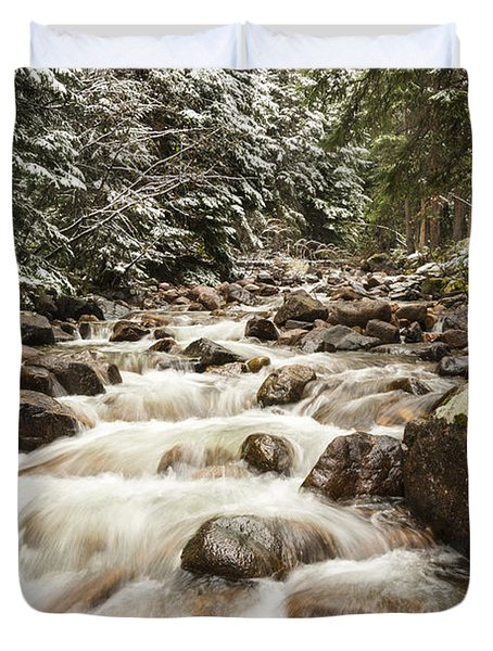 Autumn At Gore Creek - Vail Colorado Duvet Cover by Brian Harig