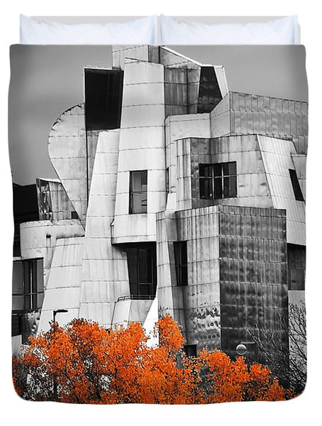 autumn at the Weisman Duvet Cover by Matthew Blum