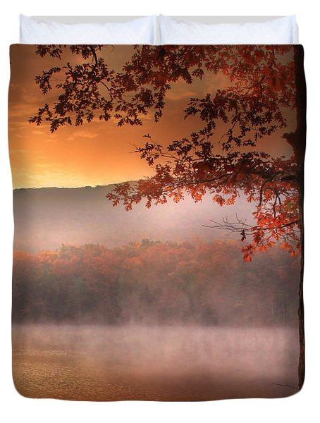 Autumn Atmosphere Duvet Cover by Lori Deiter