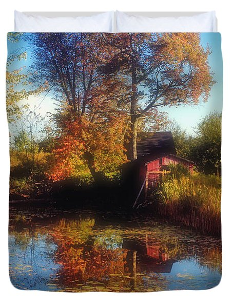Autumn Barn Duvet Cover by Joann Vitali