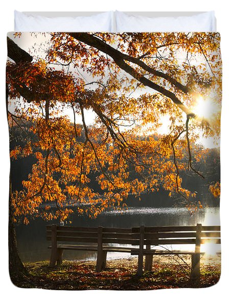 Autumn Beauty Duvet Cover by Debra and Dave Vanderlaan