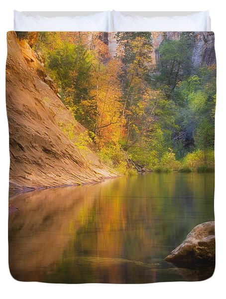 Autumn Bliss Duvet Cover by Peter Coskun
