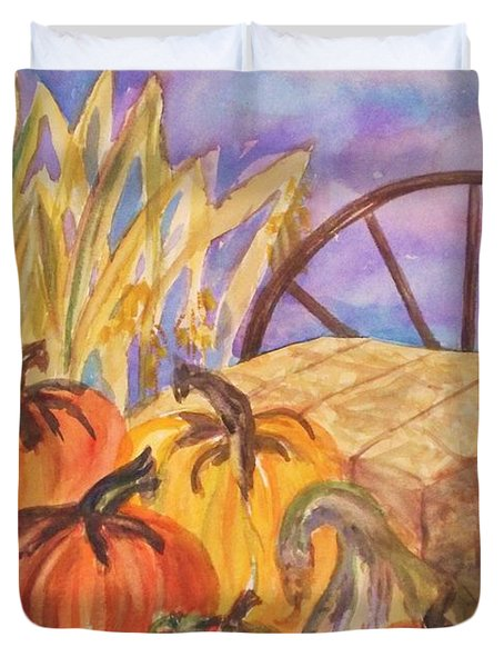 Autumn Bounty Duvet Cover by Ellen Levinson