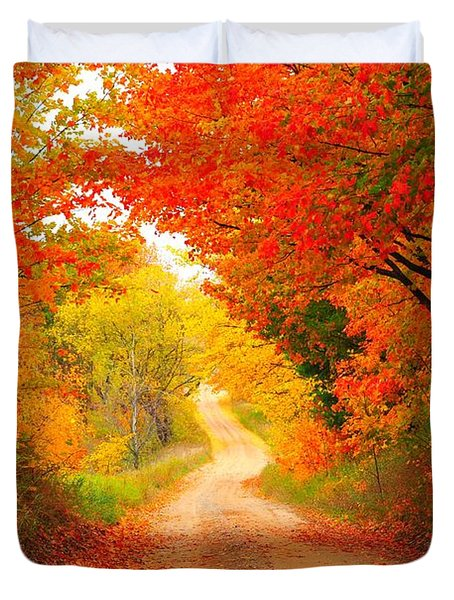 Autumn Cameo 2 Duvet Cover by Terri Gostola