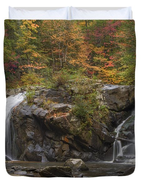 Autumn Cascades Duvet Cover by Debra and Dave Vanderlaan